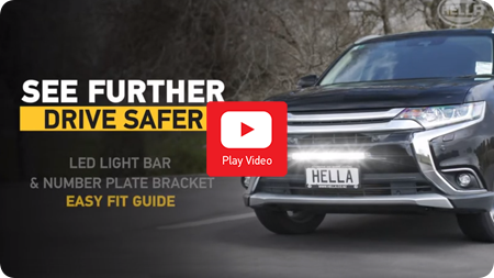 Lightbar Number Plate Bracket