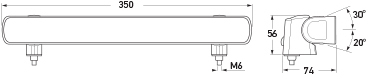 BL350 Work Lamp Diagram