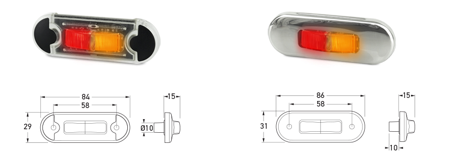 DuraLED® Flush Mount Side Marker Lamps