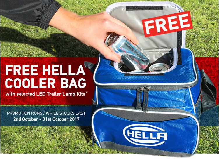 October Free HELLA Cooler Bag Promo HELLA LED Trailer Lamps