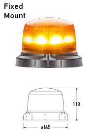RotaLED Compact Flashing Beacon - Fixed Mount