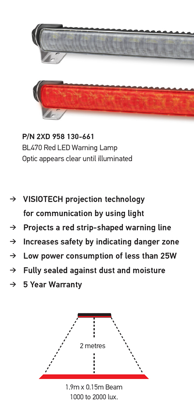 Hella Red LED Warning Lamp details