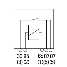 Normally Open Relay - Dual Output Diagram