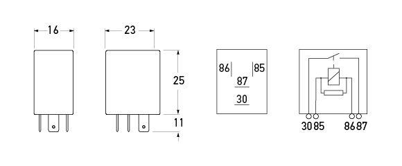 Micro Relay Wiring Diagram : Pin micro relay diagram wiring images