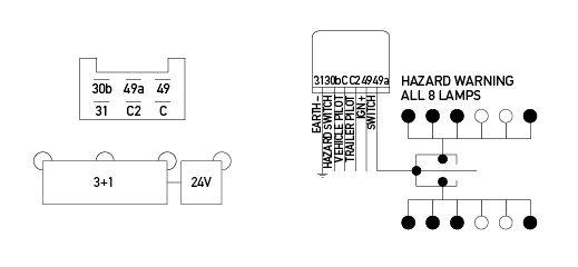 Electronic Flasher Unit - 24v 6 Pin